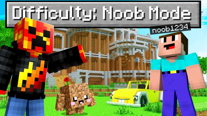 Noob1234 Difficulty Mode on the Minecraft Marketplace by Meatball Inc