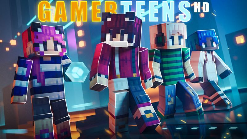 Gamer Teens HD on the Minecraft Marketplace by Block Factory