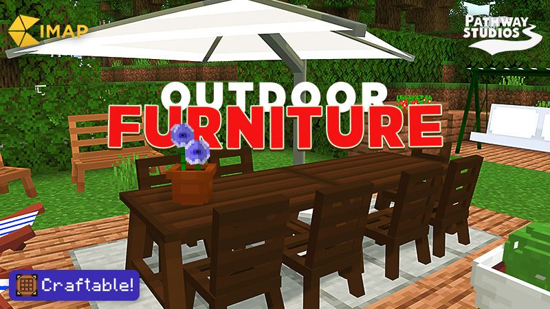 Outdoor Furniture on the Minecraft Marketplace by Pathway Studios