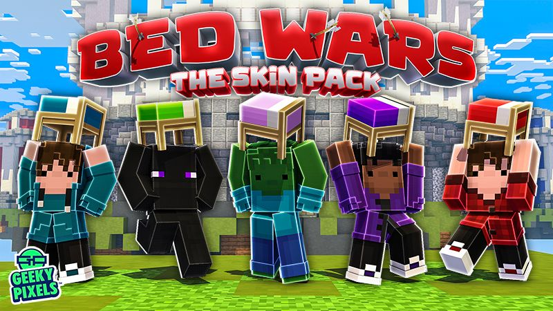 Bed Wars The Skin Pack on the Minecraft Marketplace by Geeky Pixels