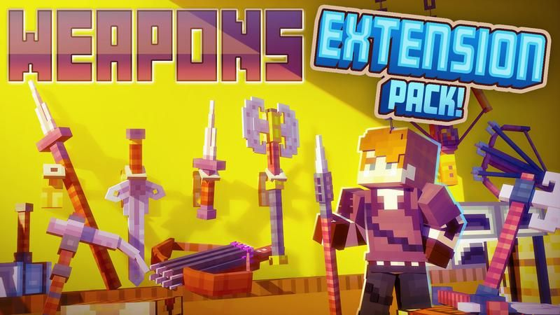 Weapons Extension Pack on the Minecraft Marketplace by Cubed Creations