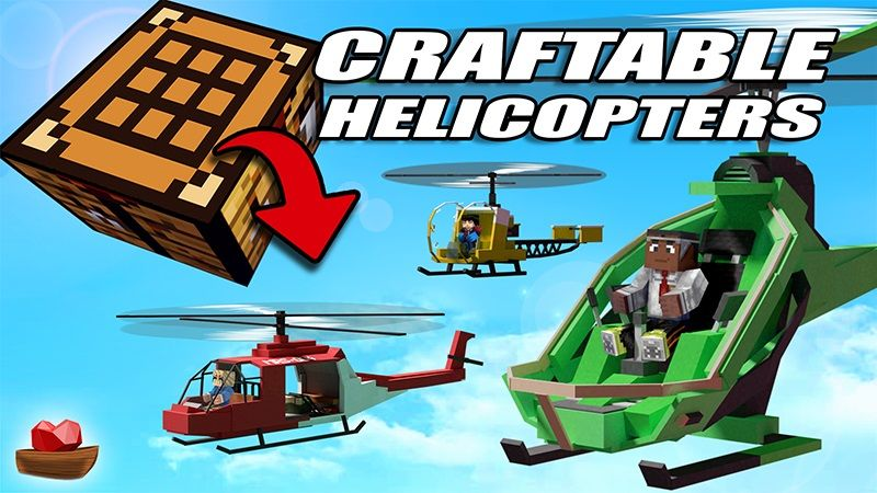 Craftable Helicopters on the Minecraft Marketplace by Lifeboat