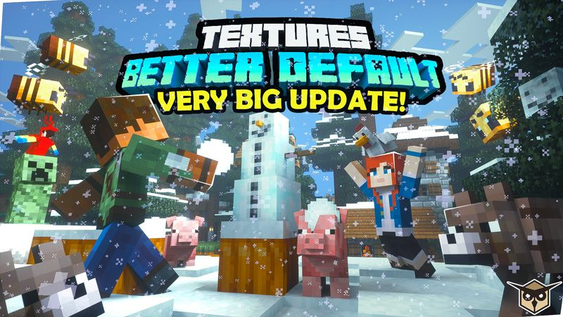 Better Default Textures on the Minecraft Marketplace by Owls Cubed