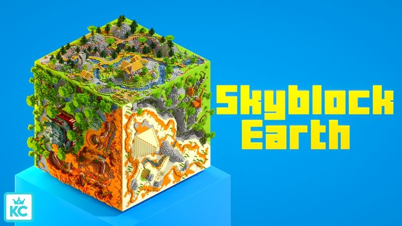 Skyblock Earth on the Minecraft Marketplace by King Cube