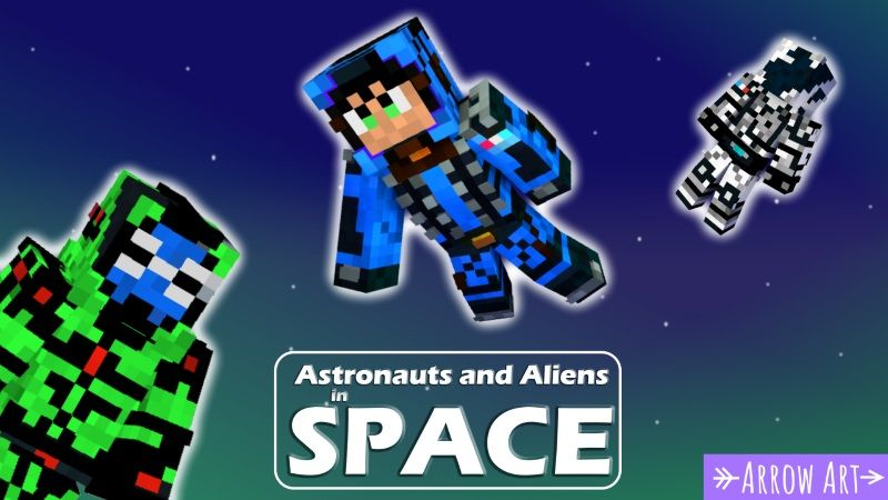 Astronauts and Aliens in Space on the Minecraft Marketplace by Arrow Art Games