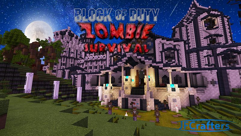 Block of Duty Zombie Survival on the Minecraft Marketplace by JFCrafters