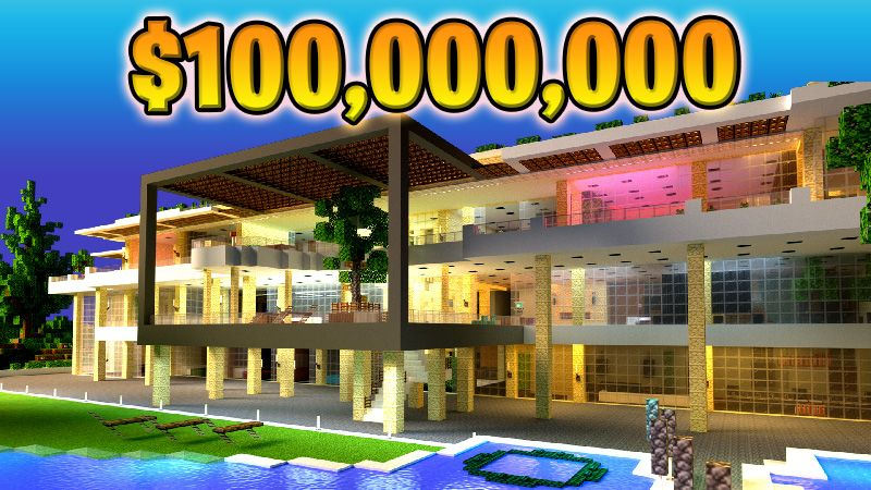 Millionaire Party Mansion on the Minecraft Marketplace by 4KS Studios