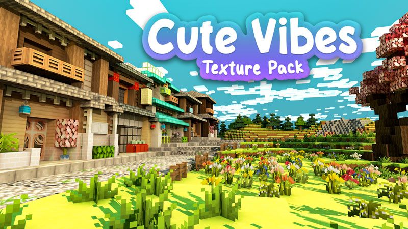 Cute Vibes Texture Pack on the Minecraft Marketplace by Blockception