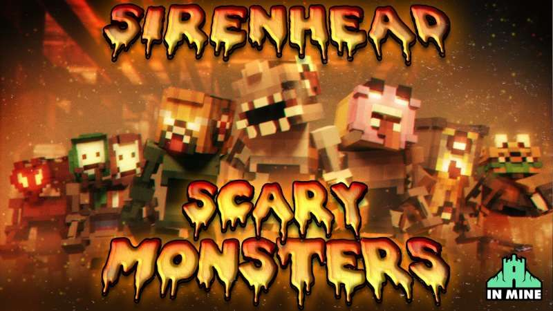 Sirenhead Scary Monsters on the Minecraft Marketplace by In Mine