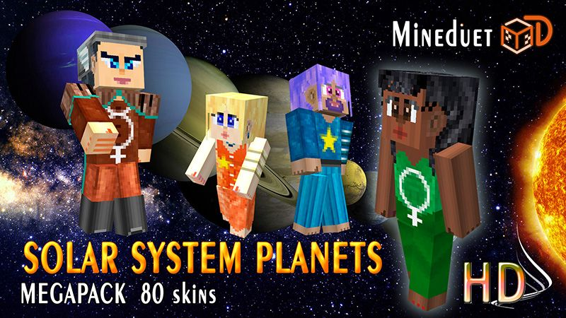Solar System Planets on the Minecraft Marketplace by Mineduet
