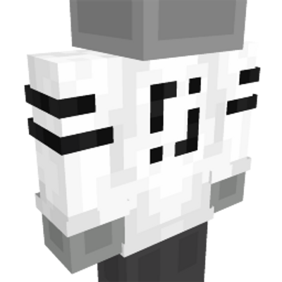Black  White Shirt on the Minecraft Marketplace by CreatorLabs