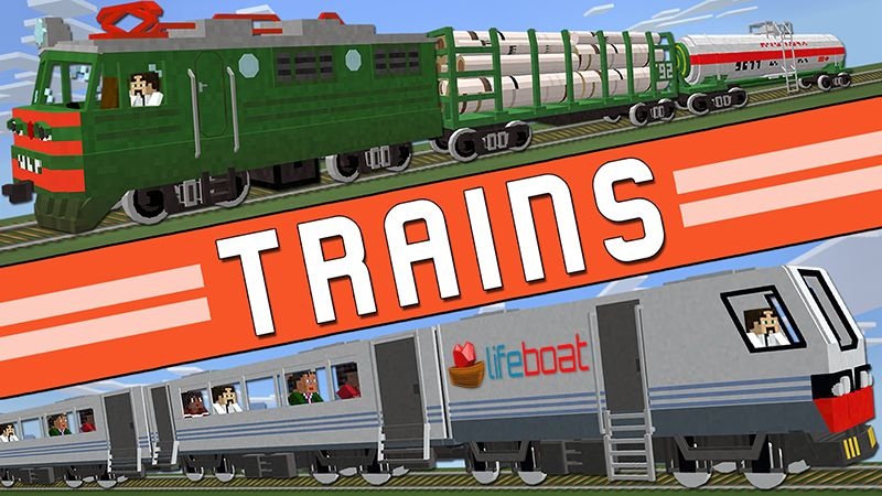 Trains on the Minecraft Marketplace by Lifeboat