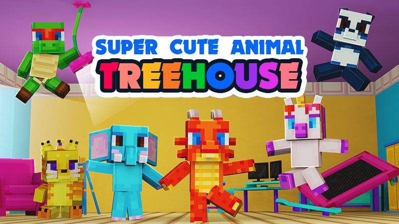 Super Cute Animal Treehouse on the Minecraft Marketplace by Mine-North