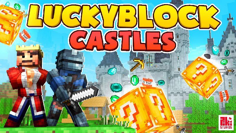 Lucky Block Castles on the Minecraft Marketplace by Piki Studios