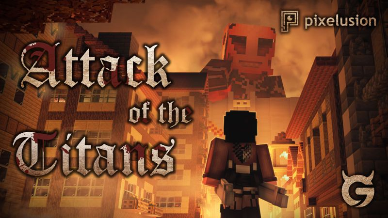 Attack of the Titans on the Minecraft Marketplace by Pixelusion