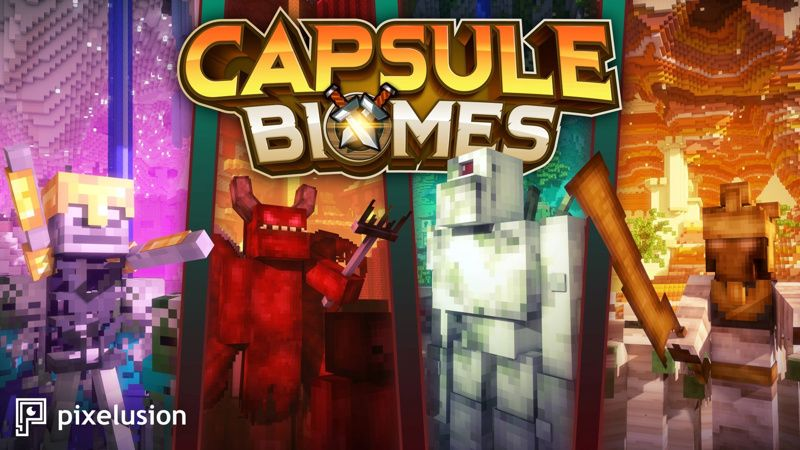 Capsule Biomes on the Minecraft Marketplace by Pixelusion