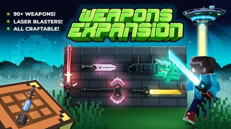 Weapons Expansion SCIFI on the Minecraft Marketplace by Shapescape