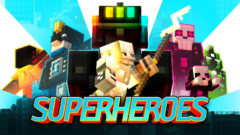 Superheroes on the Minecraft Marketplace by Gamemode One
