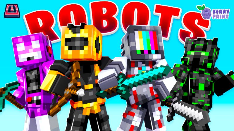 Robots on the Minecraft Marketplace by Razzleberries