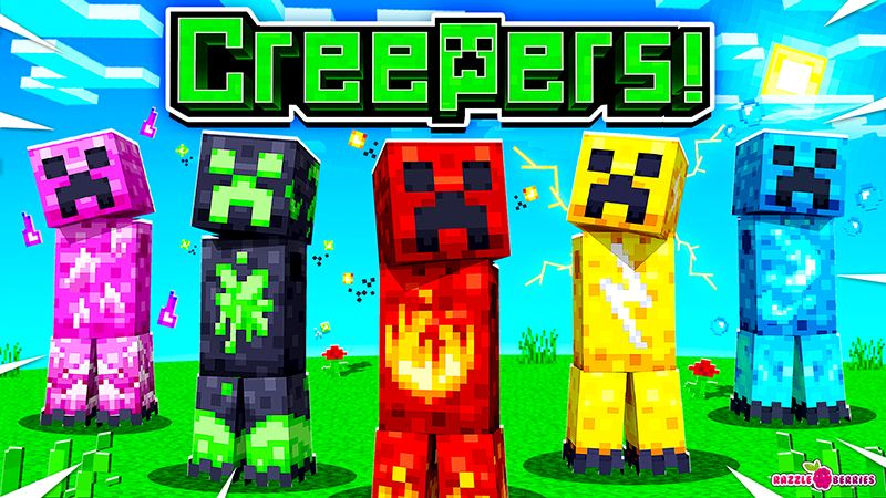 Creepers on the Minecraft Marketplace by Razzleberries