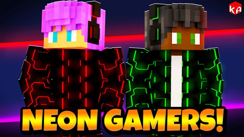 Neon RGB Gamers on the Minecraft Marketplace by KA Studios