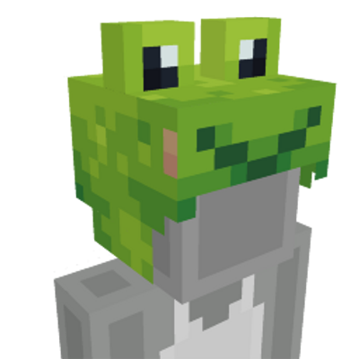Frog hat on the Minecraft Marketplace by Square Dreams