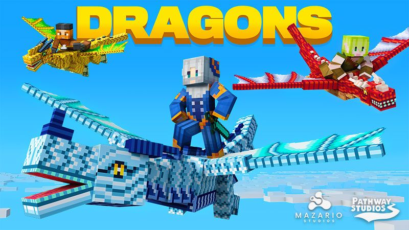 Dragons on the Minecraft Marketplace by Pathway Studios