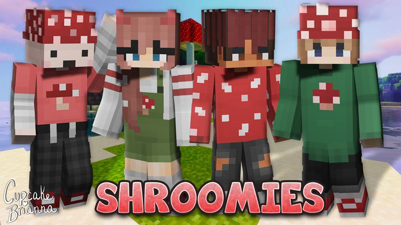 Shroomies Skin Pack on the Minecraft Marketplace by CupcakeBrianna